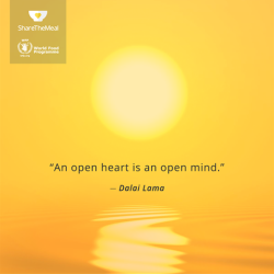 An open heart is an open mind!
